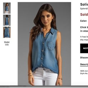 Splendid Denim/chambray tank xs